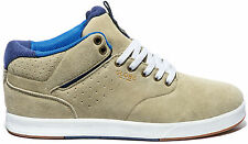 Globe High Shoes Lace Up Motley Solace beige Leather Rubber sole Patch