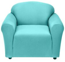 AQUA CHAIR COVER-ALSO COMES IN SOFA COUCH LOVESEAT RECLINER FUTON SLIPCOVER