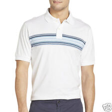 Izod Slim-Fit Engineered Striped Polo Bright White Size S New Msrp $45.00