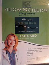 BED BUG PROTECTOR---QUEEN--PILLOW--STOPS  DUSTMITES ALLERGEN WATERPROOF-ZIPPERED
