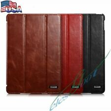 【US】ICARER Vintage Classical Leather Cover Slim Case Stand Case For iPad mini 4