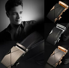 Fashion Men Leather Automatic Buckle Belts Luxury Waist Strap Belt Waistband