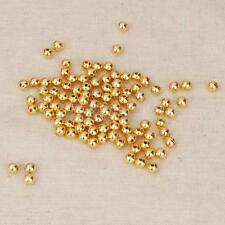 100pcs Smooth Round Gold Copper Spacer Beads DIY Making Jewelry Findings 4mm/6mm
