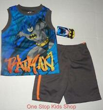 BATMAN Toddler Boys 2T 3T 4T 5T Set OUTFIT Shirt Shorts Tank Top Super Hero