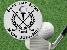 Great Fathers Day Gift! BEST DAD Golf Ball Marker, Personalized FREE, Engraved