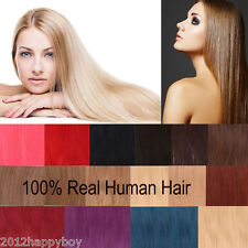 """20PCS Women Ladys Full Head 16""""-24"""" Clip In Remy 100% Real Human Hair Extensions"""