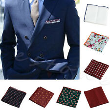 1Pc Men Floral Cotton Pocket Square Handkerchief Wedding Hanky Party Multicolor