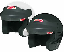 Simpson Cruiser Helmet/Lid Snell SA2010 White or Black All Sizes for Rally/Race