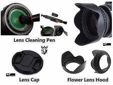 FP83 43mm Lens Hood + Lens Cap + Cleaning Pen for Camcorder Camera Lens Lenses