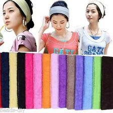 BD Absorb Sweat Yoga Hair Headbands Lead Cloth Towels With Wide Hair Scarf Candy