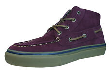 Sperry Bahama Chukka Mens Suede Boat Boots / Shoes - Burgundy - 2716