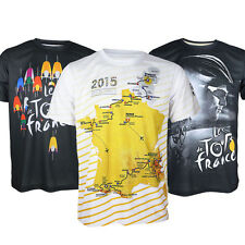 Mens Tour De France Cycling Bicycle Quick Dry Casual Tee Tops Crew Neck T-shirt
