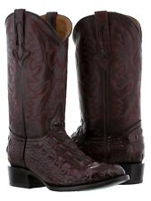 mens cherry alligator design crocodile back leather cowboy boots western rodeo