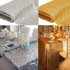 Sequin Tablecloth Square Wedding Table Linens Silver Gold Sequin Table Runner