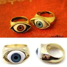 Fashion Retro Punk Bronze Evil Blue/Brown Eye Finger Ring Evil Eye Rings DJNG