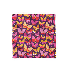 Hot Pink Butterflies Satin Style Scarf - Bandana in 3 sizes