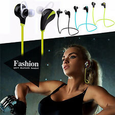 Sweatproof Sports Bluetooth Headset Stereo Earphones Wireless Earbuds With Mic