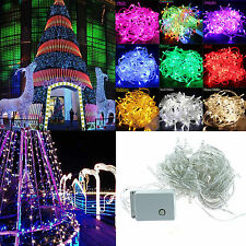 10M/20M 100 200 LED Bulbs Christmas Party String Lights Waterproof Fairy Lights