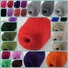 Sale New 1 ball x 50g HIGHT QUALITY Cashmere Hand Knitting Yarn Solid Colorful