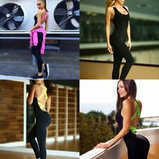 Sexy Women Playsuit Bodycon Tracksuit Gym Yoga Sports Trousers Jumpsuit Romper