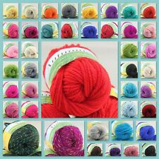 Sale Lot of 1 Ball X 50g Chunky Soft Warm Wool Hand Knitting Solid Colorful Yarn
