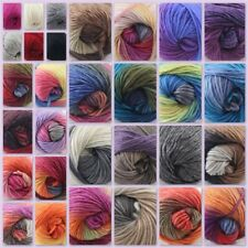 Lot of 1 Skein x50gr NEW Chunky Hand Knitting Rainbow Wool Shawls Yarn Colorful