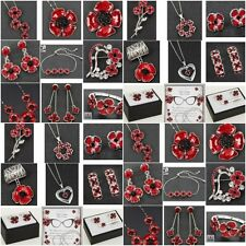 Equilibrium Silver Plated Poppy Earrings Necklace Bracelet Brooch Jewellery