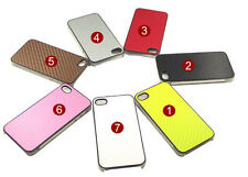 Luxury Chrome Frame PU Leather Hard Back Case Cover For Apple iPhone 4 4s