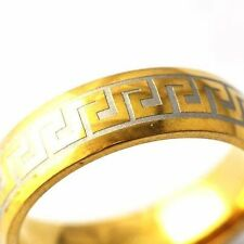 fashion couple ring gold filled silver yellow Band Ring Size 8-12