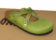 Oxygen Footbed Clog London Apple Green sizes 37-41