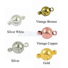 10Sets Two Parts Round Brass Magnetic Clasps Jewelry Making Findings
