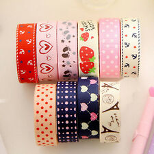 DIY Satin Lace Decorative Tape Adhesive Tape Washi Fabric Tape Stickers 1Pc
