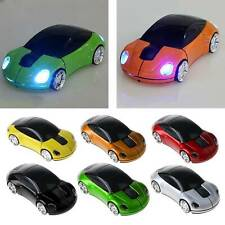 2.4GHz 3D Optical Wireless Mouse Mice Car Shape USB Receiver For PC Laptop
