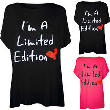 Ladies Slogan Letter Print Casual Short Sleeve T-Shirt Tops Blouse UK Size 6-14