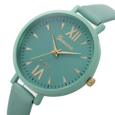 Girl GIFT Geneva Roman Watch Lady Leather Band Analog Quartz Wrist Watch