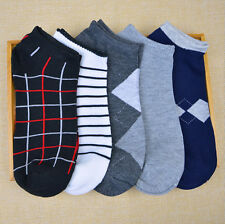 Lot Men's 1/5/10Pairs Soft Invisible No Show Nonslip Low Cut Ankle Socks 1-6#