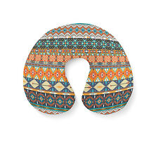 Hipster Aztec Tribal Geometric Travel Neck Pillow - Inflatable