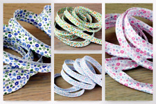 Floral Print Cotton Flanged Piping Cord - per 2 metres (BIE29-5093-M(LL))