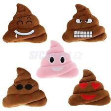 FUNNY PILLOW POOP PLUSH PILLOWS SOFT EMOJI EMOTION STUFFED CUSHION TOY DECOR