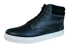 Galaxy P294 Mens Casual Lace Up Hi Top Trainers / Ankle Boots - Black