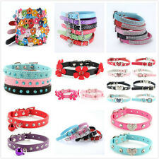 Adjustable PU Leather Small Pet Dog Cat Collar Puppy Multi-Styles Collars Decor