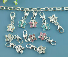 520 Wholesale Mixed Butterfly Clip On Charm Fit Chain Bracelet
