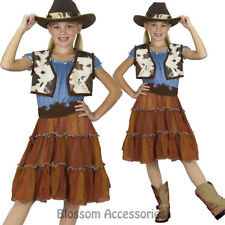 CK609 Cowgirl Kids Western Wild West Cowboy Indian Rodeo Fancy Dress Costume Hat