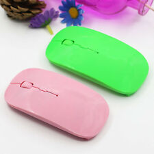 2.4GHz Thin Wireless Mouse USB Optical Scroll Mice for Tablet Laptop PC Fashion
