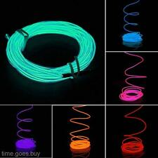 6 Colors 5M Flexible EL Wire Neon Light Glow Strip +12V Inverter for Car Vehicle