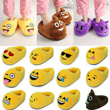 Emoji Expression Cute Unisex Slippers Home Shoes Indoor Slipper Plush Stuffed
