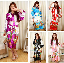 New Women's Geisha Kimono Bath Robe Night Robe Gown Yukata S M L XL XXL XXXL