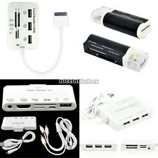 New 5in 1 /6in 1 USB Hub Combo Kit Multi-Card Reader Adapter For ipad iphone