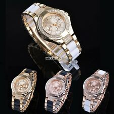 Bling Crystal Lady Women Girl Analog Bracelet Dial DialQuartz Wrist Watch Gift