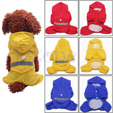 Fashion Puppy Dogs Casual Waterproof Jacket Pet Dog Rain Coat Clothes 3 Colors